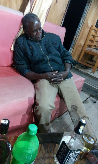 Kalembe Ndile Drunk in a cheap pub