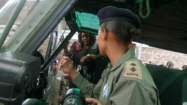 Hot Kenya Air force Pilot Lady