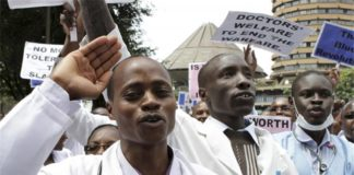Kenya Defense Forces doctors and nurses at KNH
