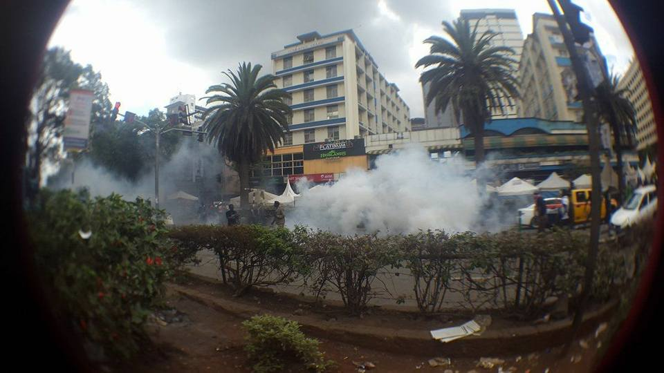 Police Fire Tear Gas at #TakeBackKenya Protesters During Jamhuri Day Celebrations 3
