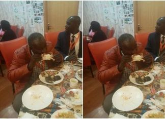 Kalembe Ndile eating like a pig