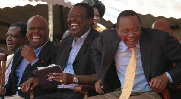 Uhuru Kenyatta Laughing