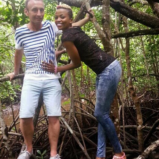 Earlier 2016 Janet Wanja and Old Cheating Husband Mzungu Andrew Swearman