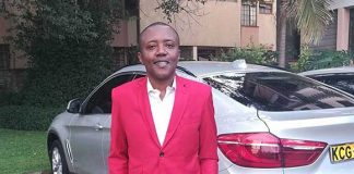 Maina Kageni in the company of a mysterious woman and child