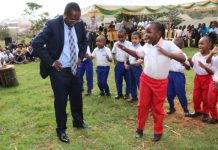 Governor Wambora Dancing with ECDE Children