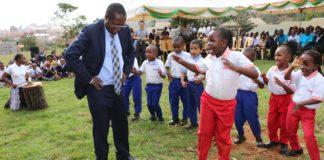Governor Wambora Dancing with ECDE Children