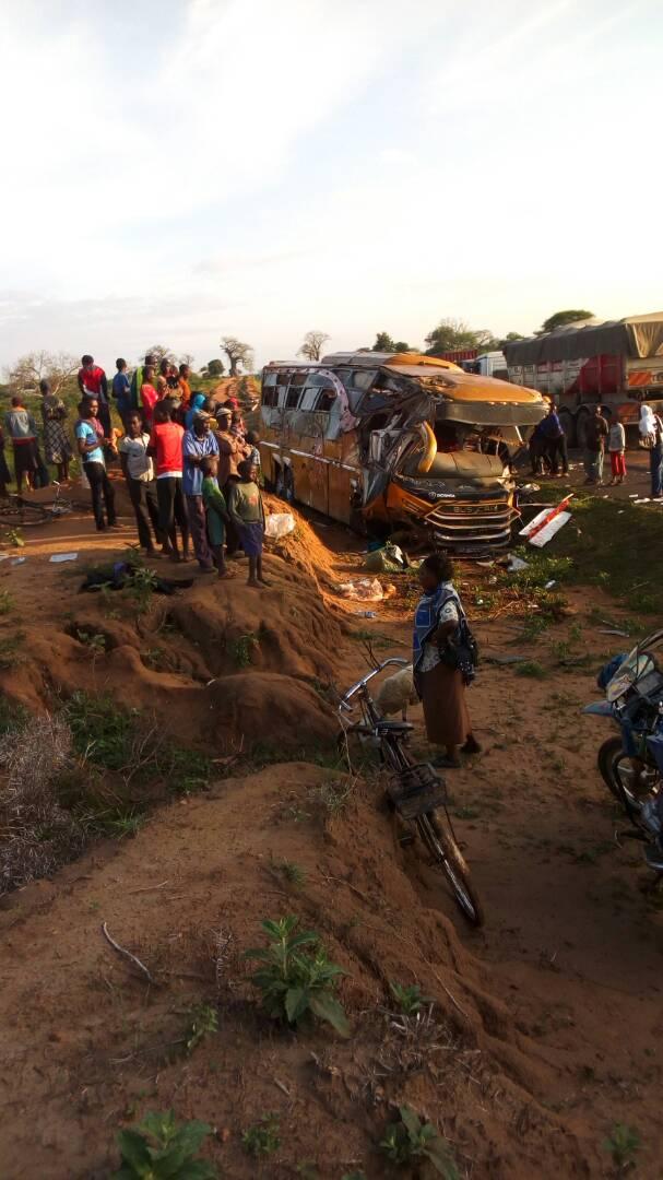 Tragic Accident, 26 dead as bus and tanker crash in Kambu, Kibwezi OCPD Leonard Kimaiyo confirms