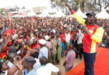 William Samoei Ruto campaigns today in bomet green stadium