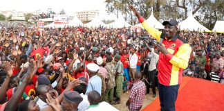 William Samoei Ruto campaigns today in bomet green stadium