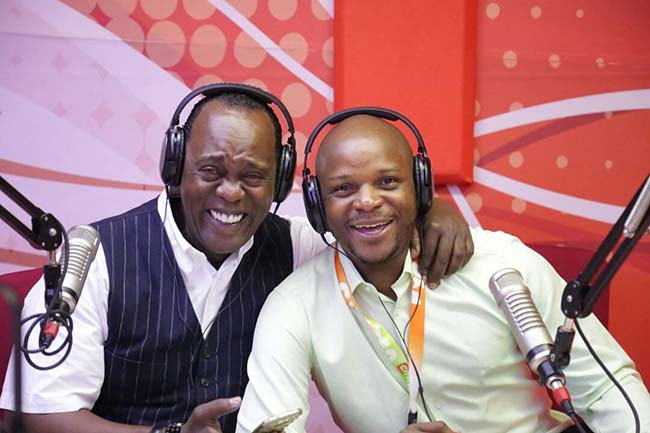 Jalangoo and Jeff Koinange in Hot 96 Studios, Royal Media Services