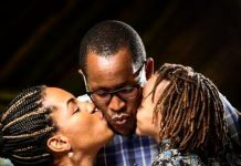 Kenyan Actor Dru and wife Druscillah Walowe Mngoda