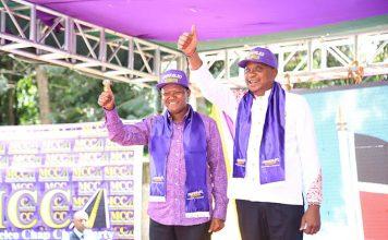 Machakos Governor Alfred Mutua Endorses President Uhuru Kenyatta's re-election in a colorful event