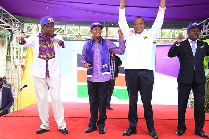 Machakos Governor Alfred Mutua Endorses President Uhuru Kenyatta's re-election in a colorful event Pictures