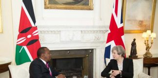 President Kenyatta and UK Prime Minister Teresa May hold landmark talks at Number 10 Downing Street, London