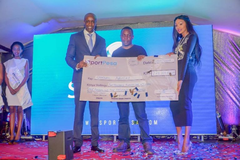 Samuel Abisai 200 Million Sport Pesa winner