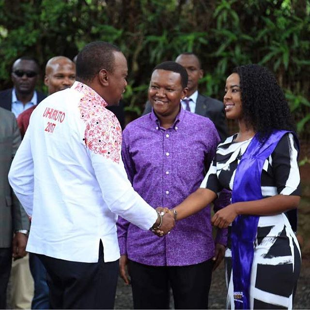 Uhuru Kenyatta and Governor Mutua's wife Lilian Nganga Pictures