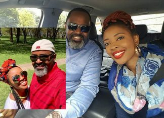 Kambua and hubby in Naivasha