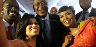 Uhuru Kenyatta, Julie Gichuru, Caroline Mutuko and DP William Ruto