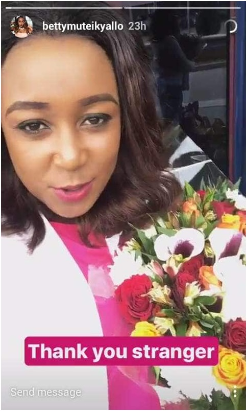Betty Kyalo Flowers