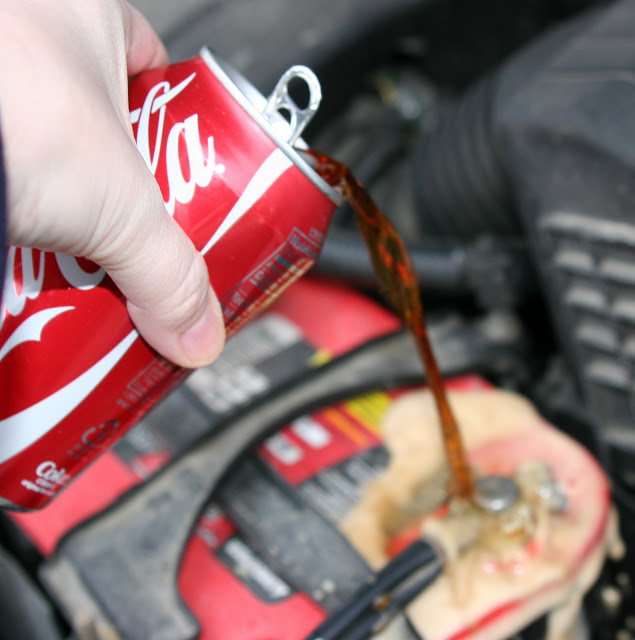 Cleaning a Car Battery With Coca-Cola