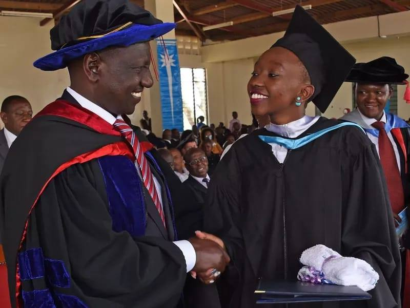 H.E Hon. Dr.William Ruto and His Daughter Charlene Cheragat Ruto