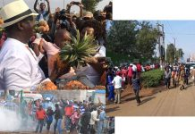 Hon Raila Odinga Stoned in Thika