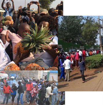 Hon Raila Odinga Stoned in Thika