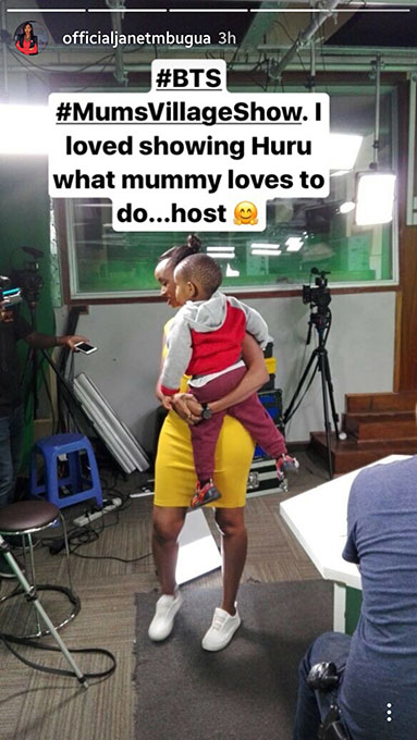 Janet Mbugua returns to TV pictures