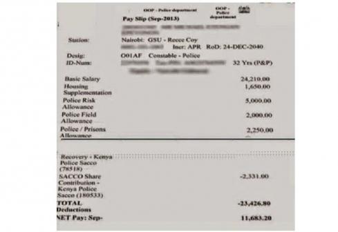 Kenya GSU RECCE officer salary Exposed by lawyer Donald Kipkorir