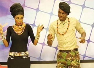 Njambi Koikai and Larry Madowo