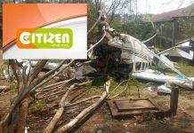 Plane carrying Citizen TV Reports Crash Lands Heading to NASA Rally