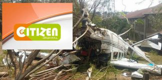 Plane carrying Citizen TV Reports Crash Lands Heading to NASA Rally