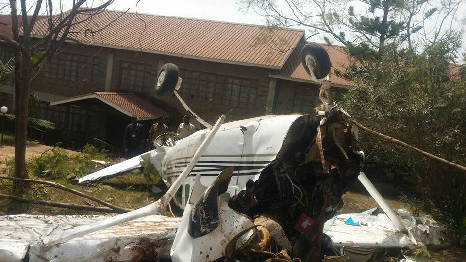 Plane carrying Citizen TV Reporters Crash Lands on Southern By Pass Heading to NASA Rally
