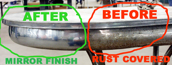 Remove Rust from Metallic Objects