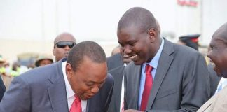Uasin Gishu Governor Jackson Mandago with HE Uhuru Kenyatta