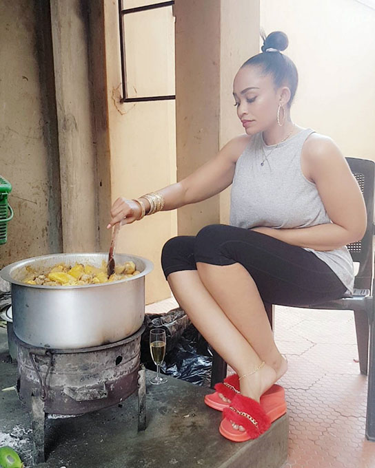 Zari The Boss Lady cooking