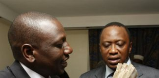 Dp Ruto and H.E Uhuru Kenyatta with lots of cash