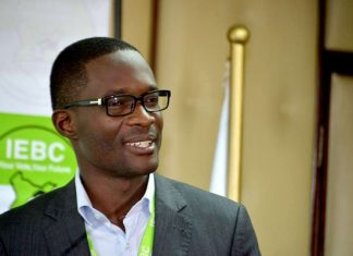 IEBC Ezra Chiloba holding a press conference 2017 Kenya General Elections