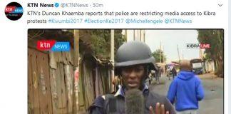 KTN's Senior Reporter Duncan Khaemba Arrested