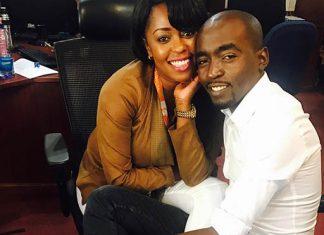 Lilian Muli and Patrick Igunza cuddling
