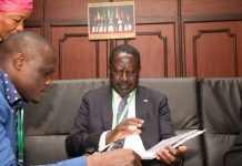 Norman Magaya with NASA Presidential Candidate Raila Odinga