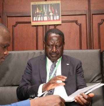 Norman Magaya with NASA Presidential Candidate Raila Odinga