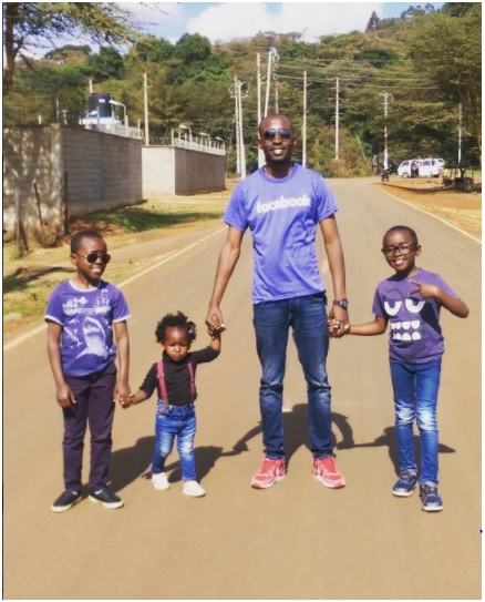 Patrick Igunza and his lovely kids