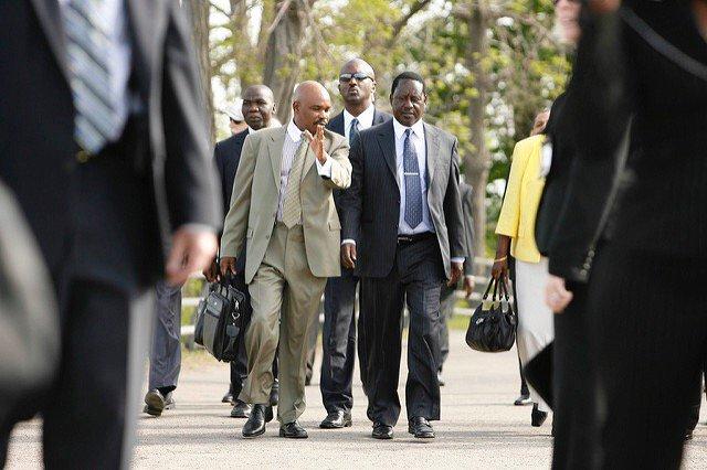 Prof Makau Mutua picture wiith Hon. Raila Odinga