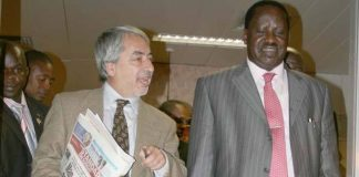Salim Lone with Hon Raila Odinga