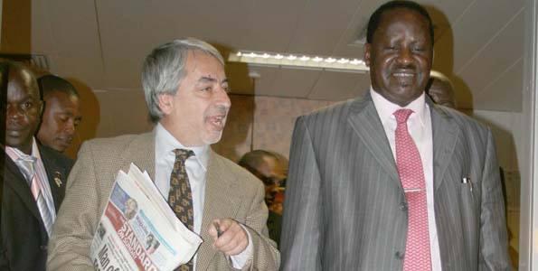 Salim Lone with Hon Raila Odinga