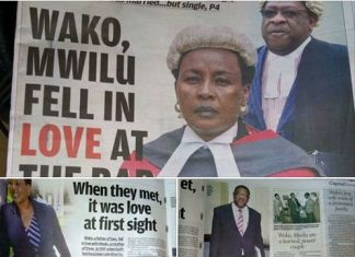 Amos wako and Lady Justice Philomena Mwilu love story