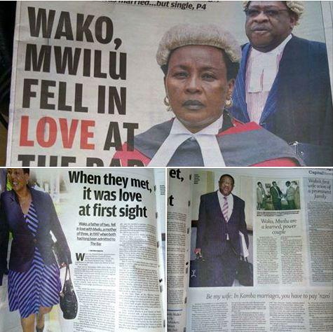 Amos wako and Lady Justice Philomena Mwilu love story