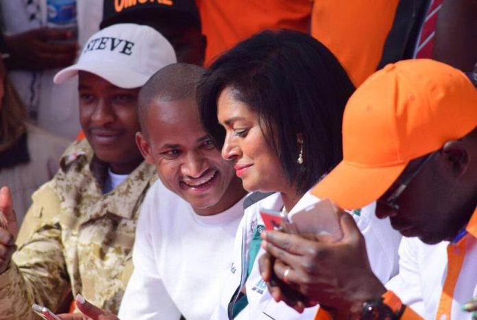 Babu Owino and Esther M Passaris