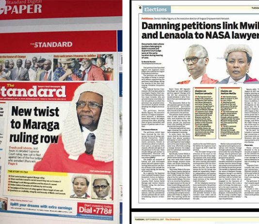 Supreme Court Judges Isaac Lenaola and DCJ Philemona Mwilu meet Nasa Lawyers and Politicians in a Hospital more than 9 times and more times at SkyView Apartments in Kilimani